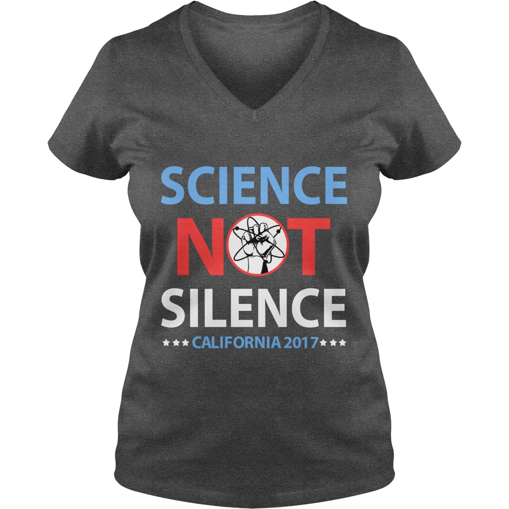 Science March California ladies v-neck