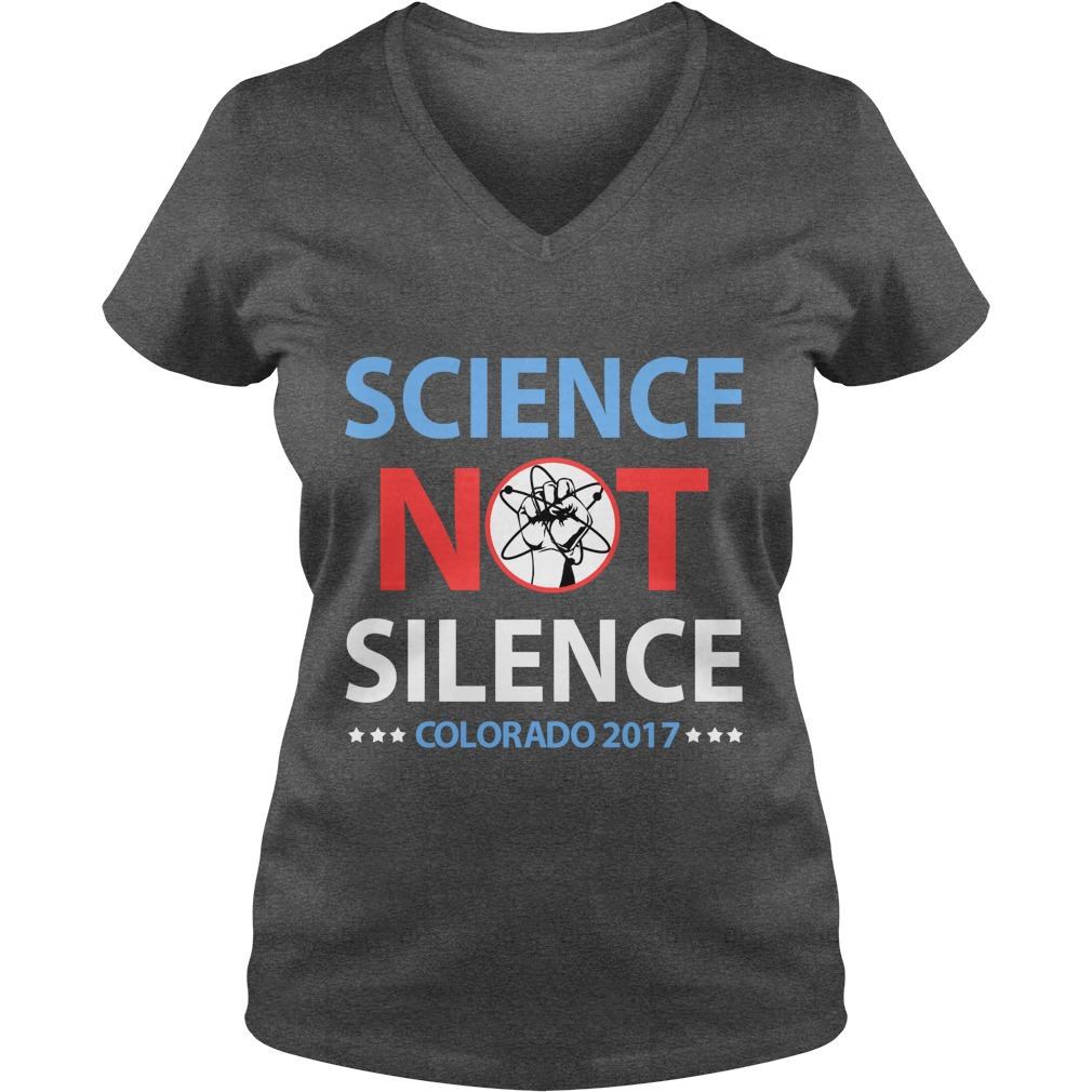 Science March Colorado ladies v-neck
