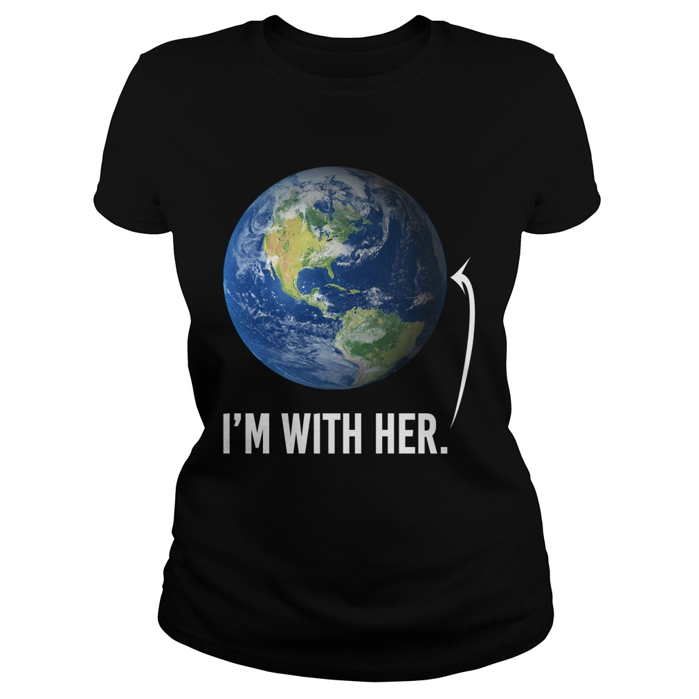 I'm with her shirt for march for science march 2017 ladies tee
