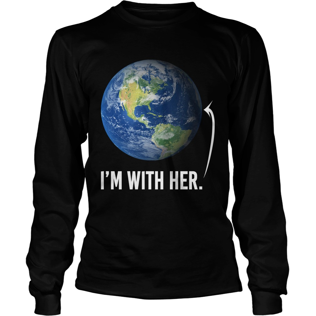 I'm with her shirt for march for science march 2017 unisex longsleeve tee