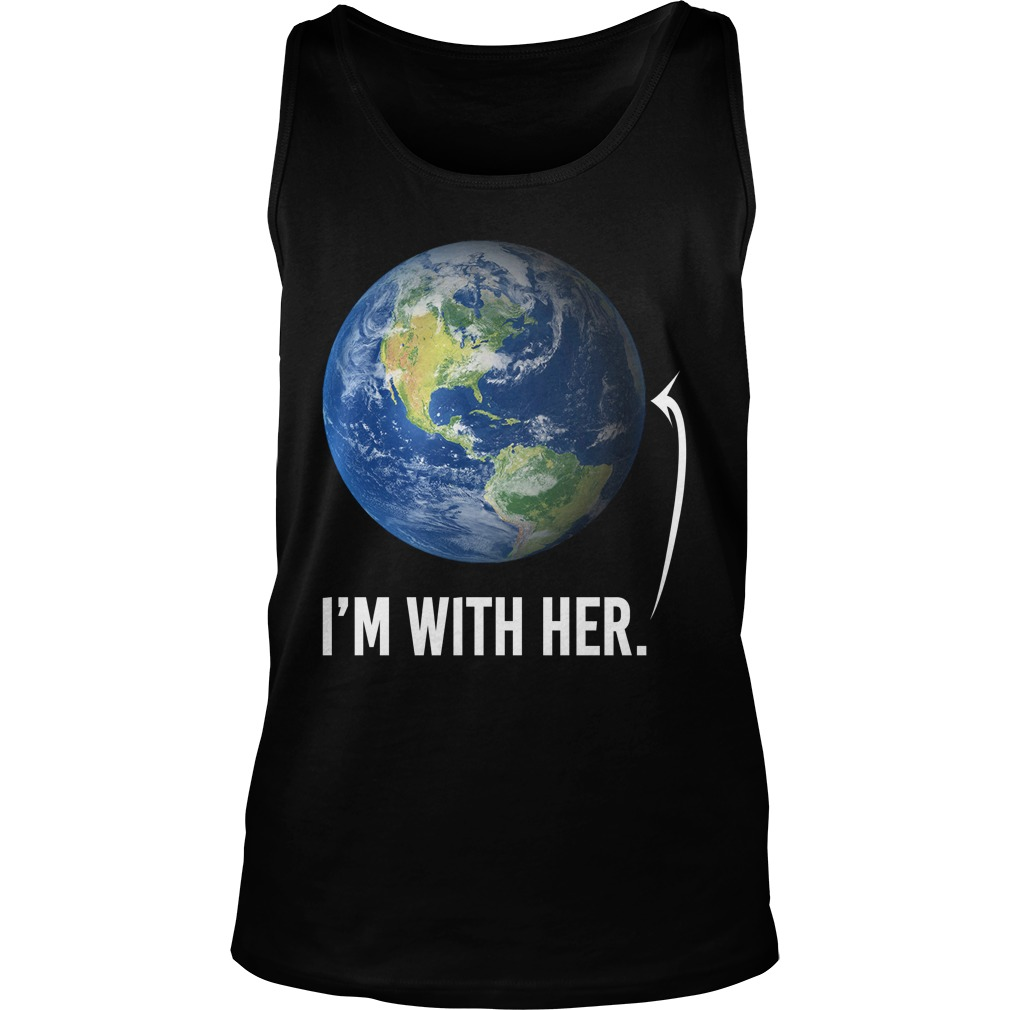 I'm with her shirt for march for science march 2017 unisex tank top