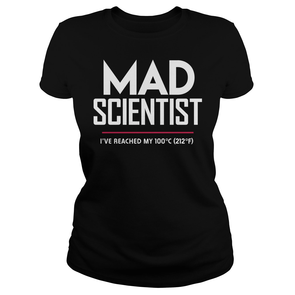 Mad Scientist: Science March Protest ladies tee