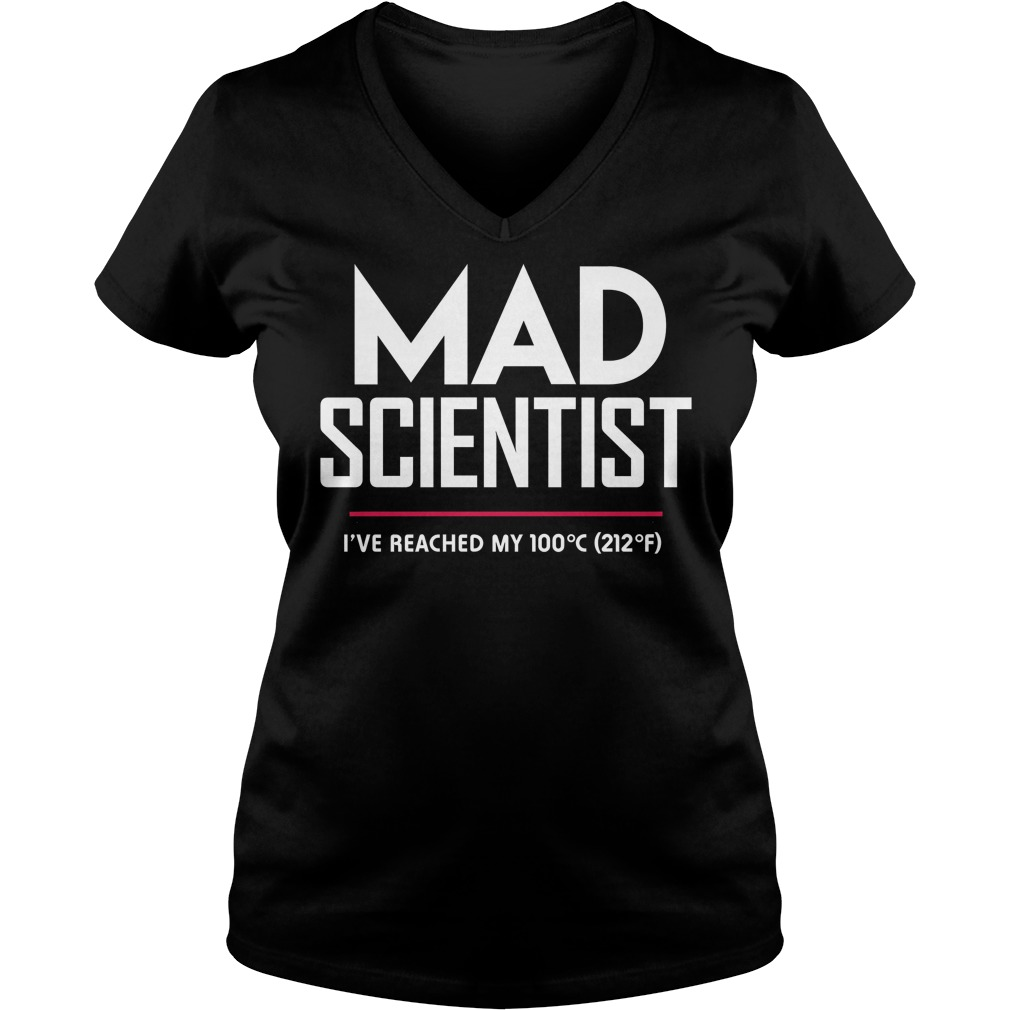 Mad Scientist: Science March Protest ladies v-neck
