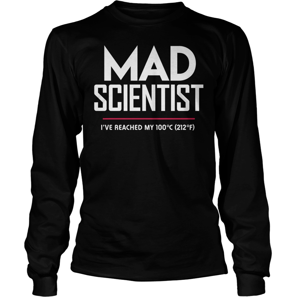 Mad Scientist: Science March Protest unisex longsleeve tee