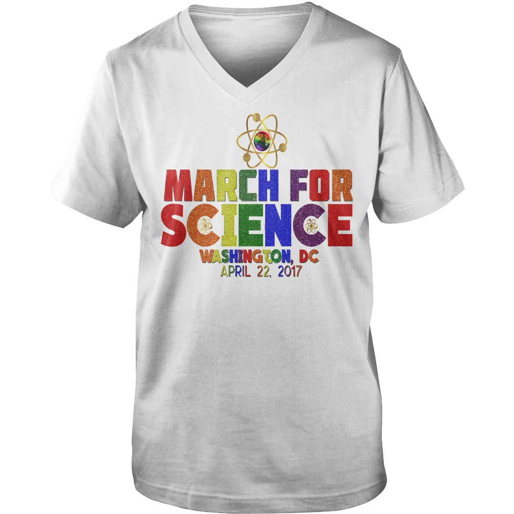 March For Science Earth Day April Washington DC guys v-neck