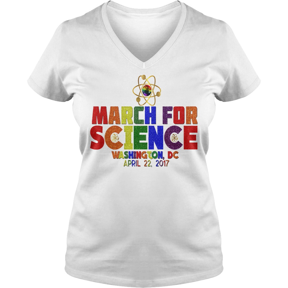 March For Science Earth Day April Washington DC laidies v-neck