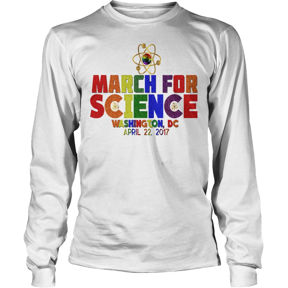 March For Science Earth Day April Washington DC unisex longsleeve tee