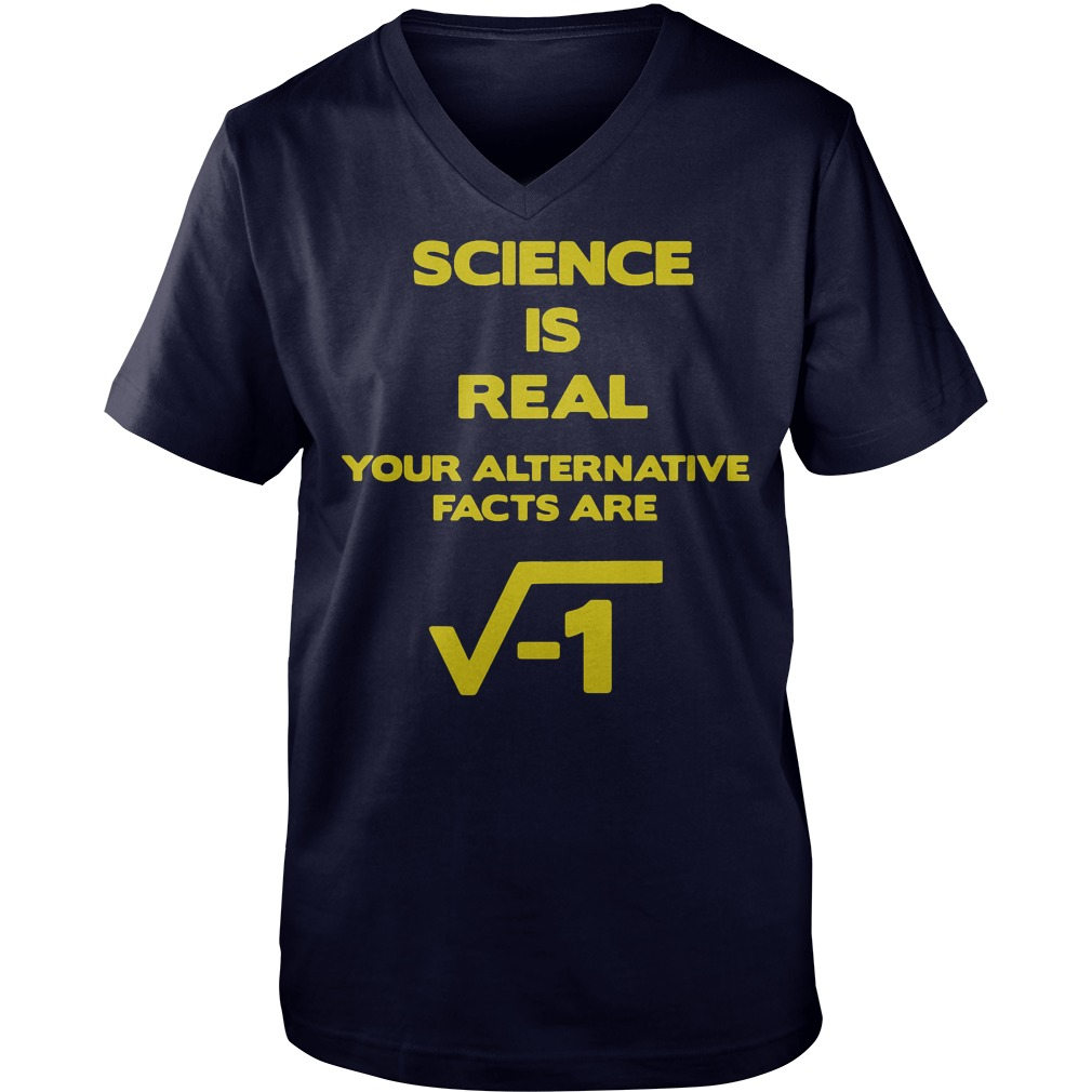 March For Science, Science Is Real guys v-neck