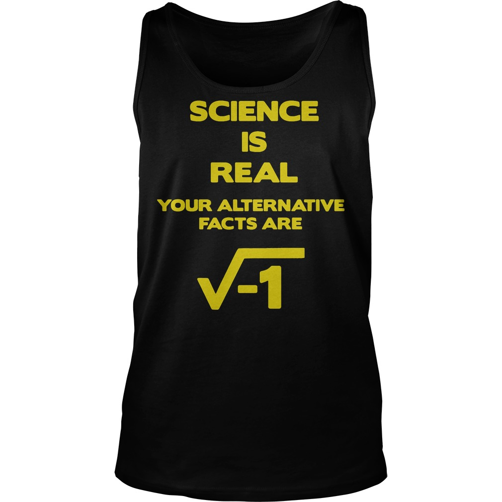 March For Science, Science Is Real unisex tank top