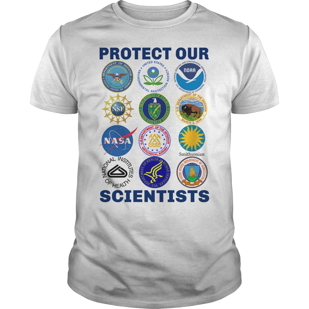 Protect Our Scientists guys tee