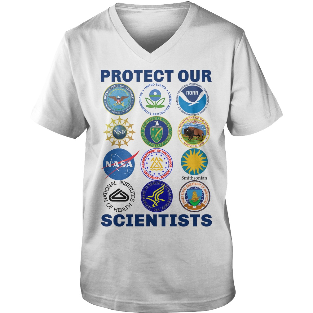 Protect Our Scientists guys v-neck