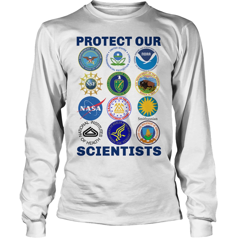 Protect Our Scientists unisex longsleeve tee