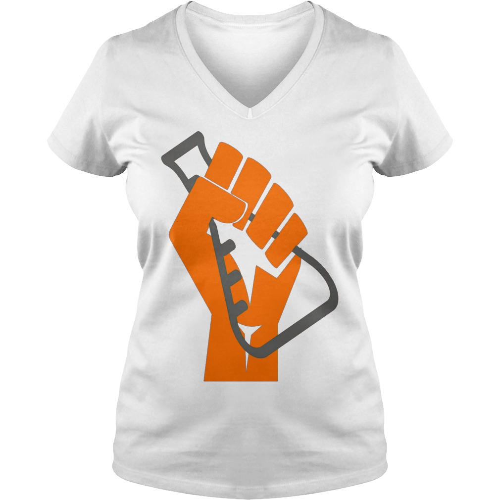 Stand with Science! Scientists March on Washington ladies v-neck