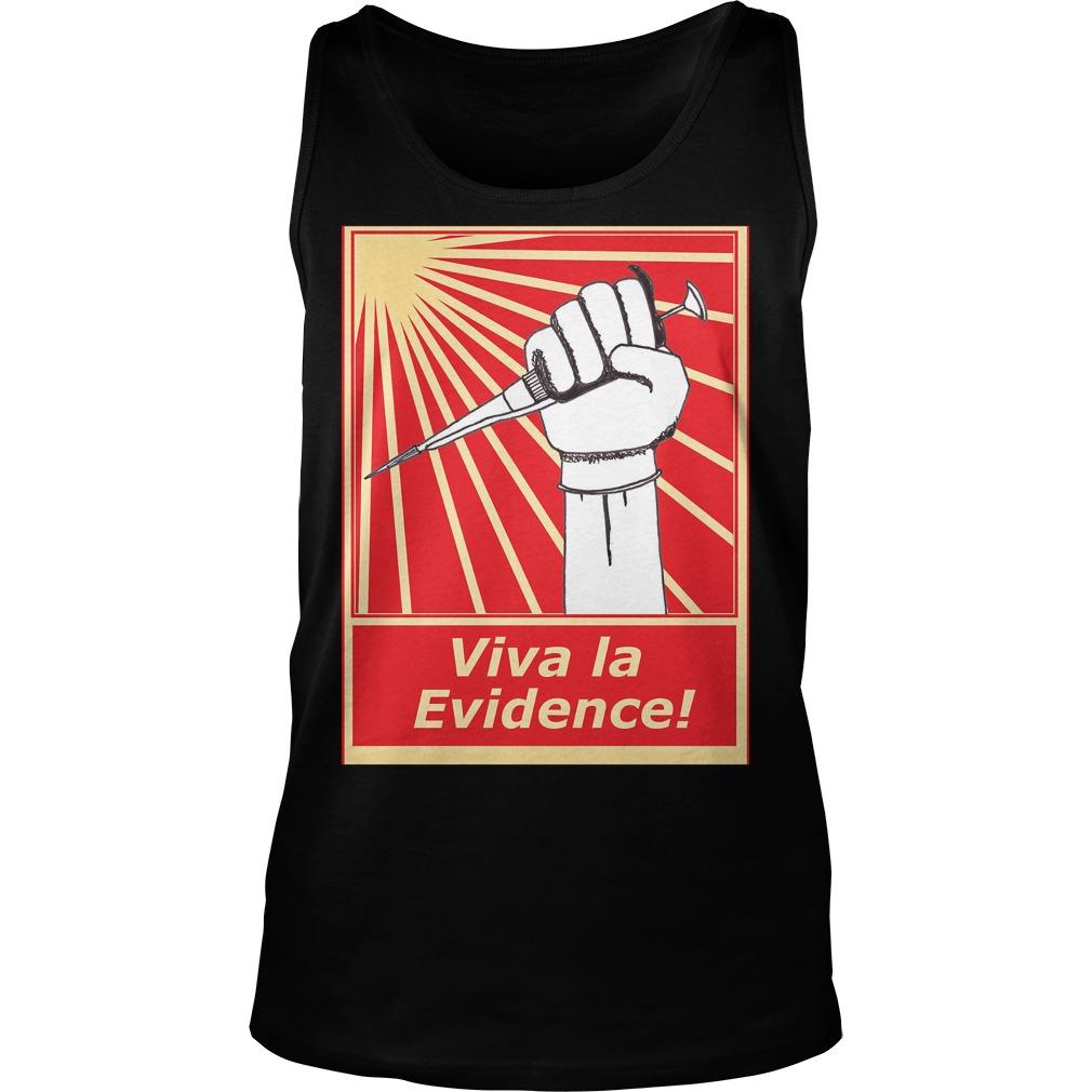 Viva la evidence unisex tank top