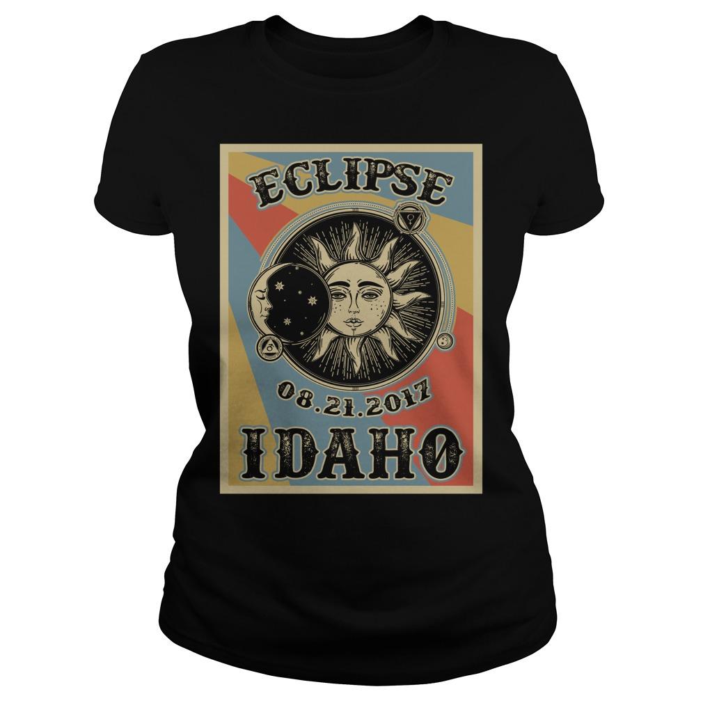 Vintage Idaho Solar Eclipse 2017 Ladies t-shirt