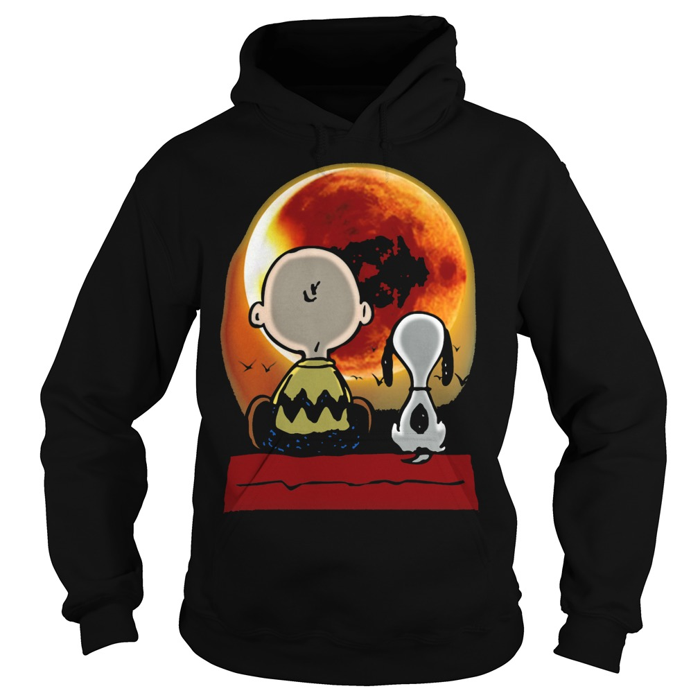 Snoopy and Charlie Brown at Solar Eclipse 2017 Hoodie
