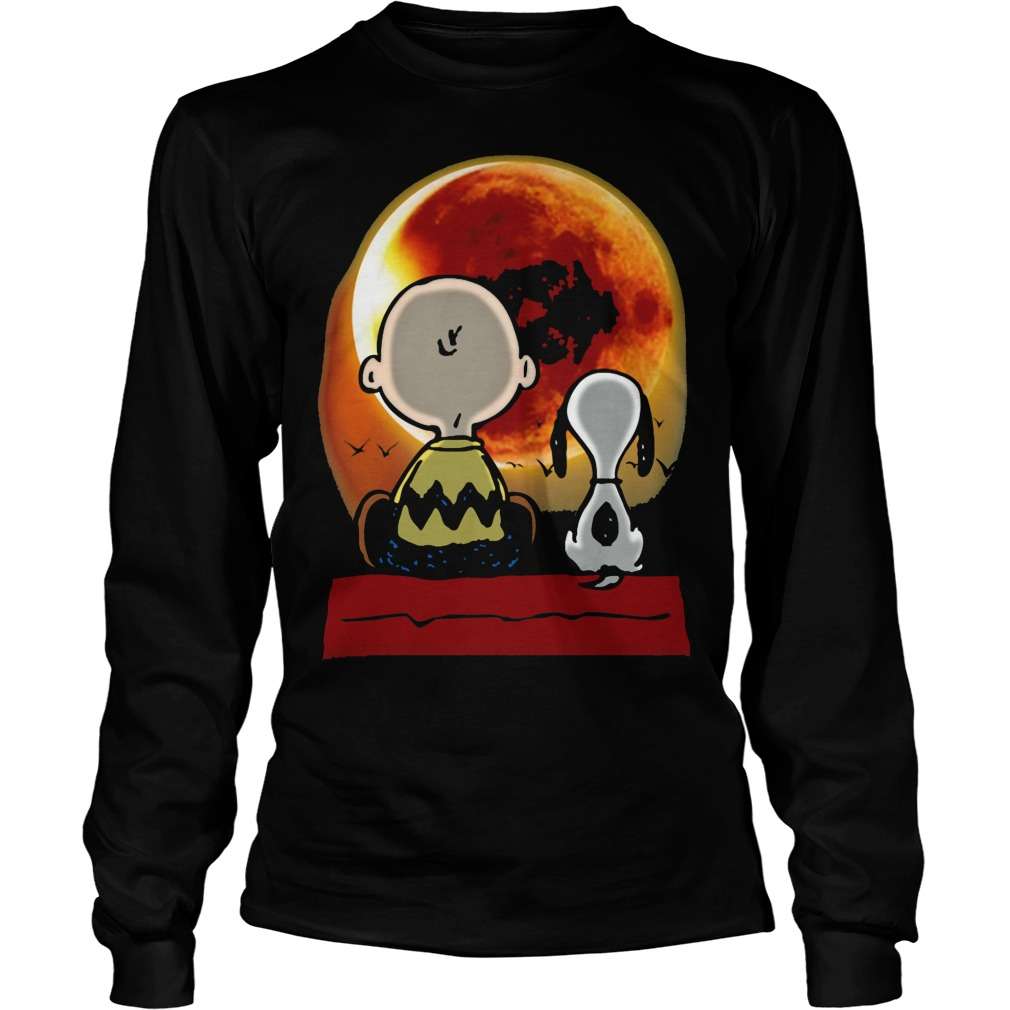 Snoopy and Charlie Brown at Solar Eclipse 2017 Longsleeve