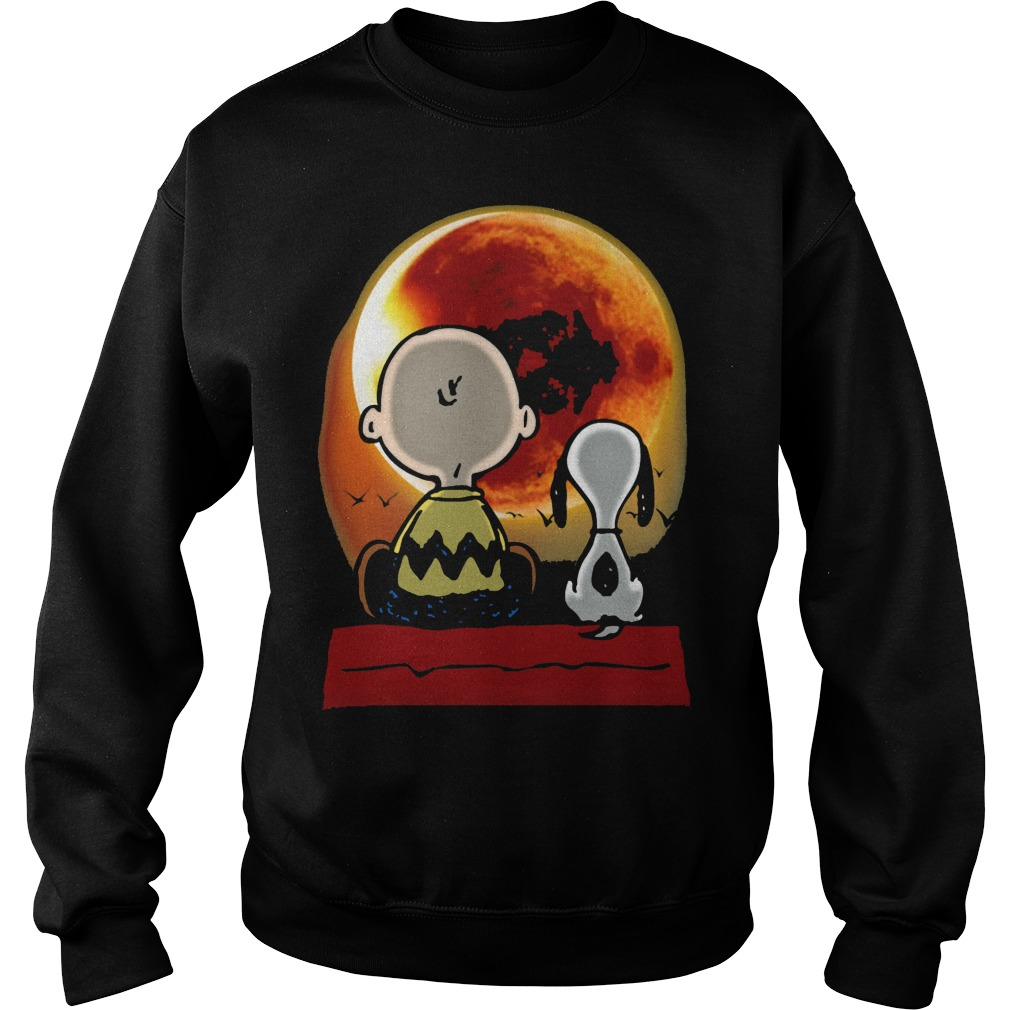 Snoopy and Charlie Brown at Solar Eclipse 2017 Sweatshirt
