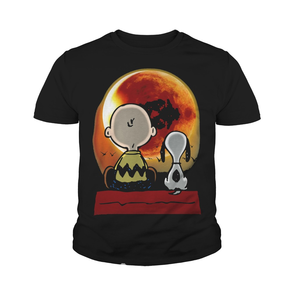 Snoopy and Charlie Brown at Solar Eclipse 2017 Youth tee shirt