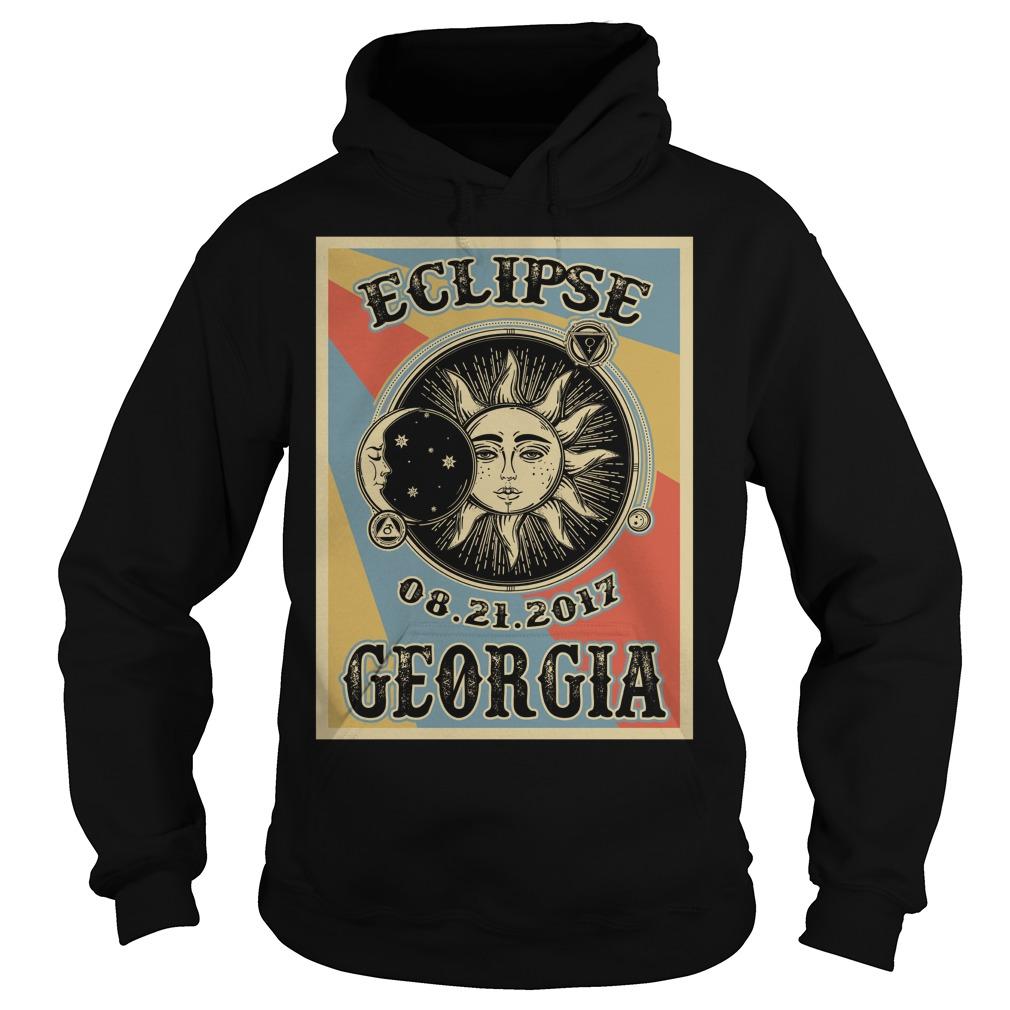 Vintage Georgia Solar Eclipse 2017 Hoodie