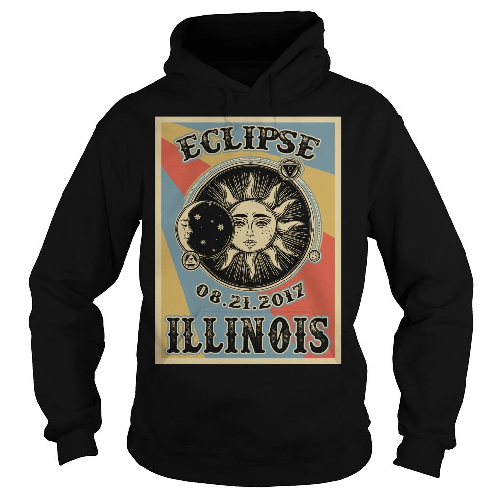 Vintage Illinois Solar Eclipse 2017 Hoodie