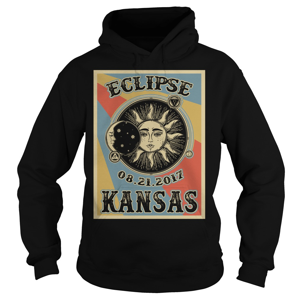 Vintage Kansas Solar Eclipse 2017 hoodie