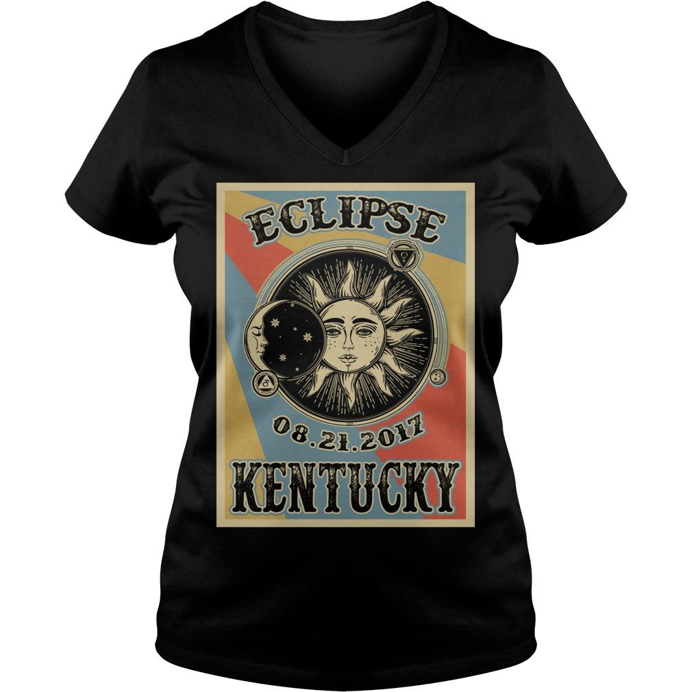 Vintage Kentucky Solar Eclipse 2017 v-neck t-shirt