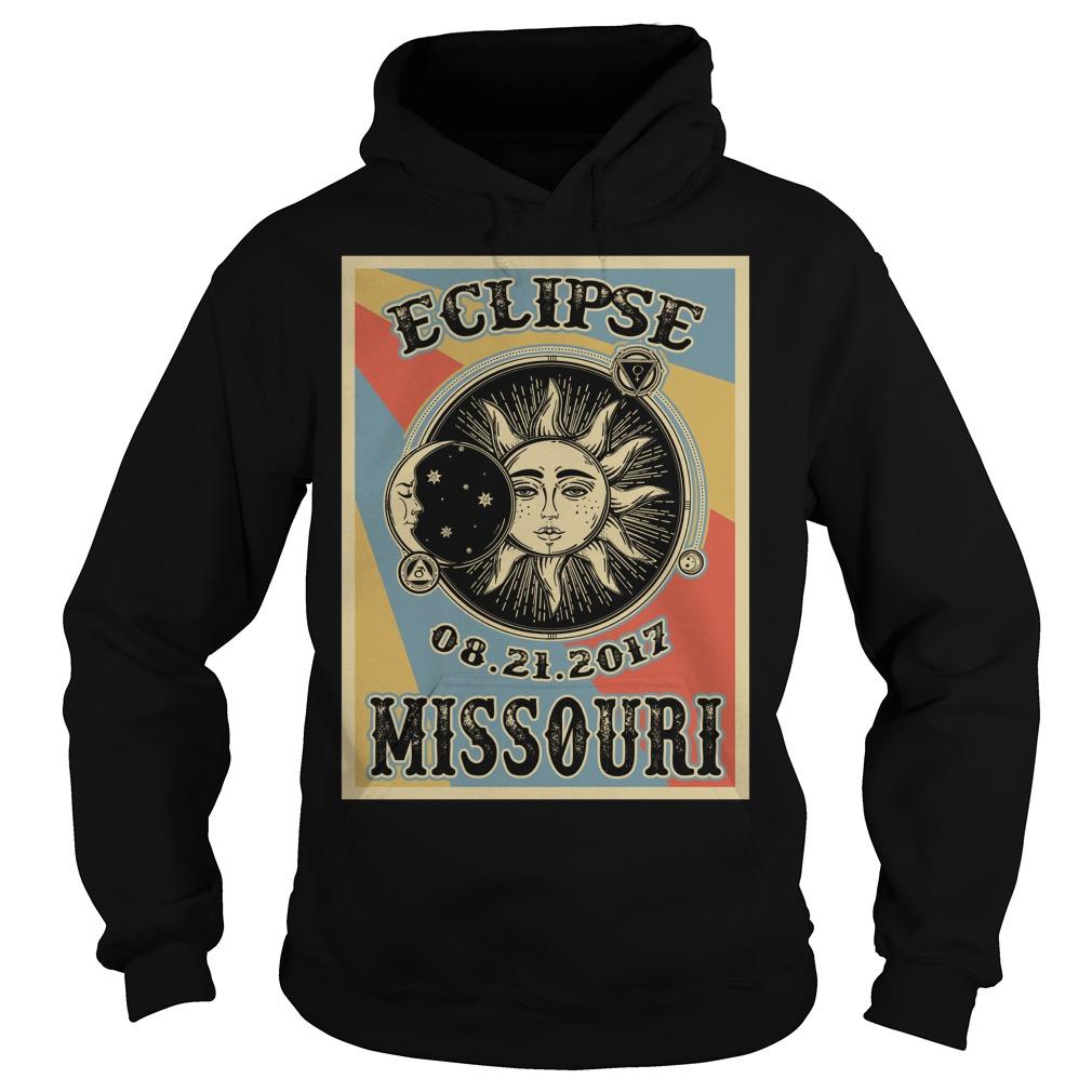 Vintage Missouri Solar Eclipse 2017 hoodie