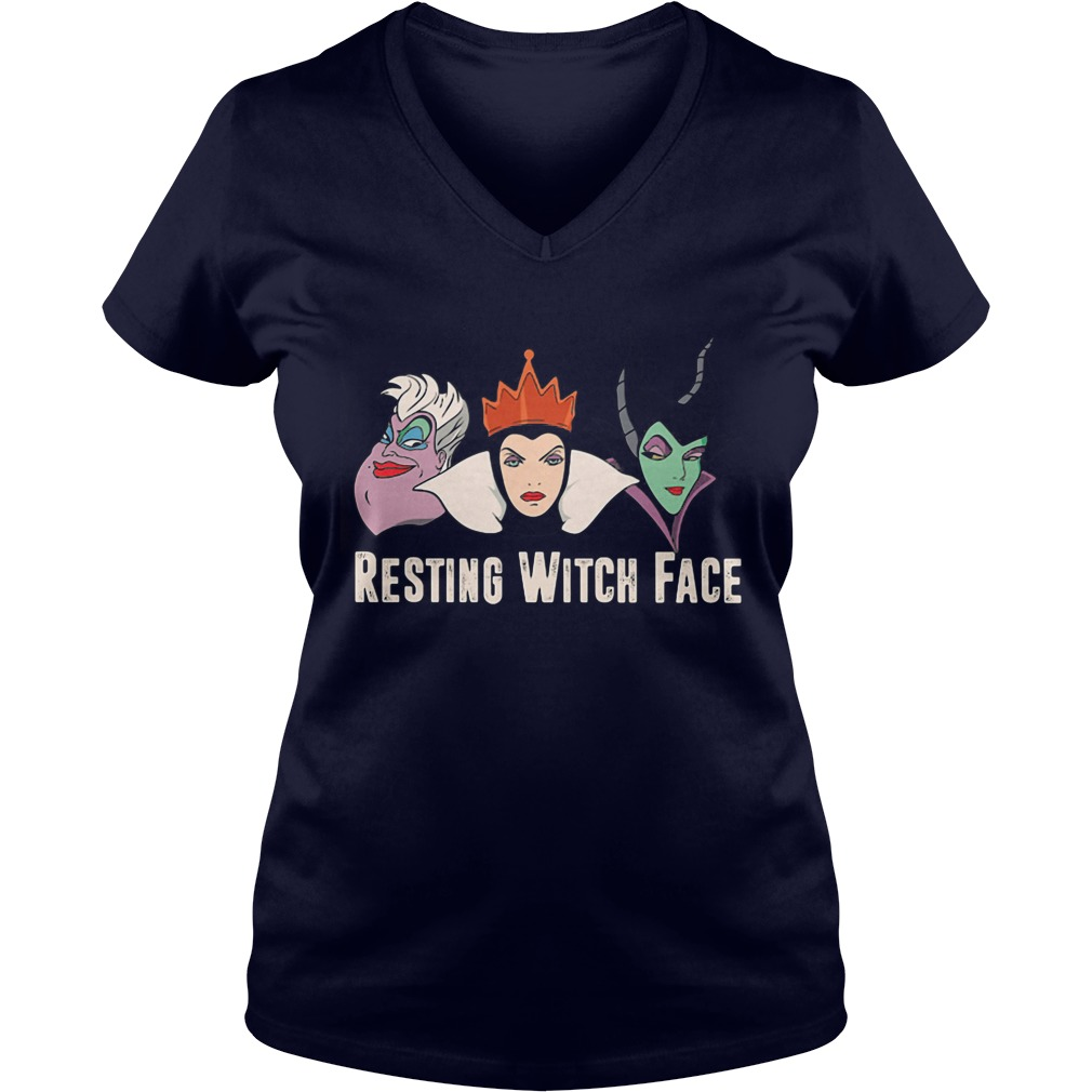 2017 Disney Resting witch face V-neck t-shirt
