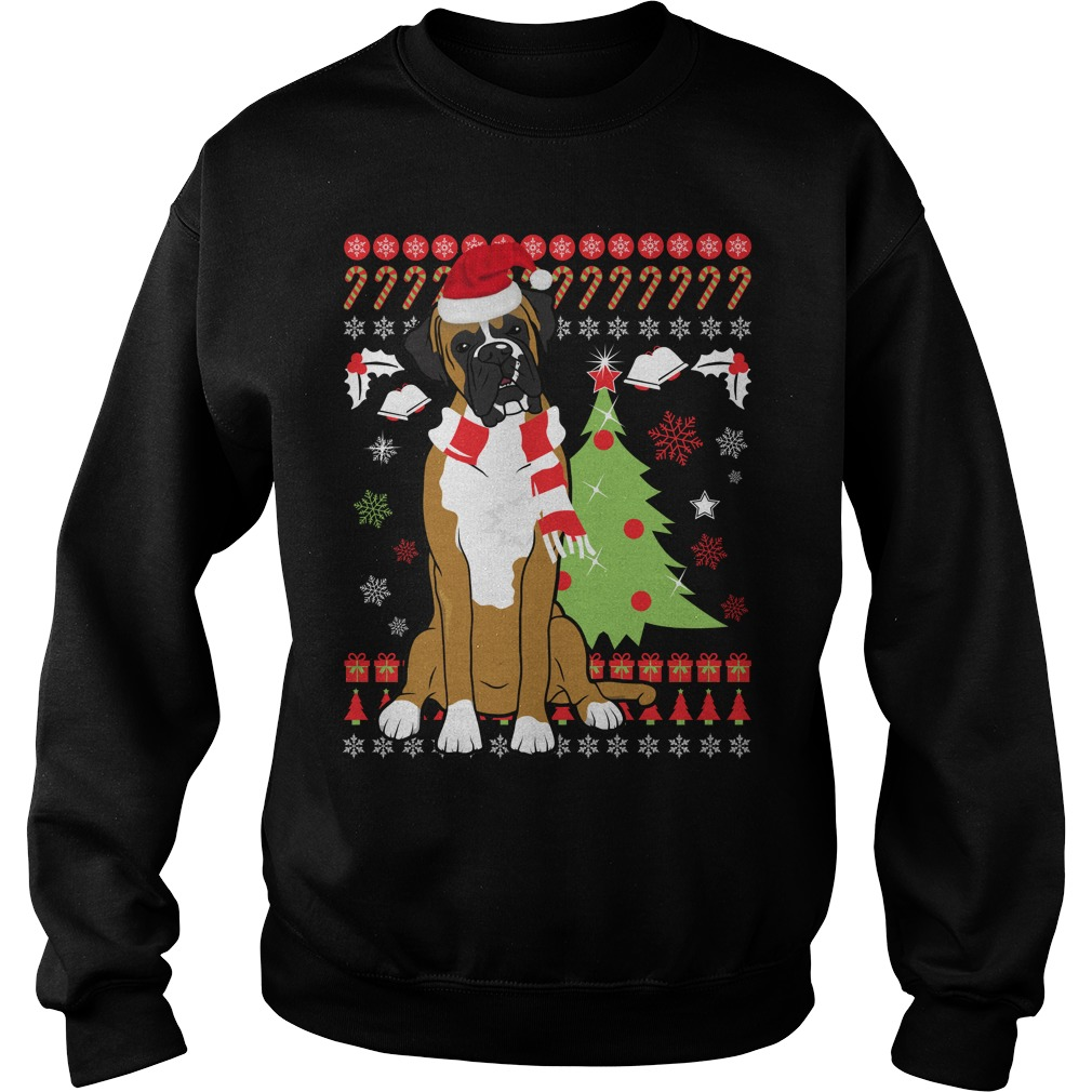 Boxer Dog Lovers Ugly Christmas Sweater