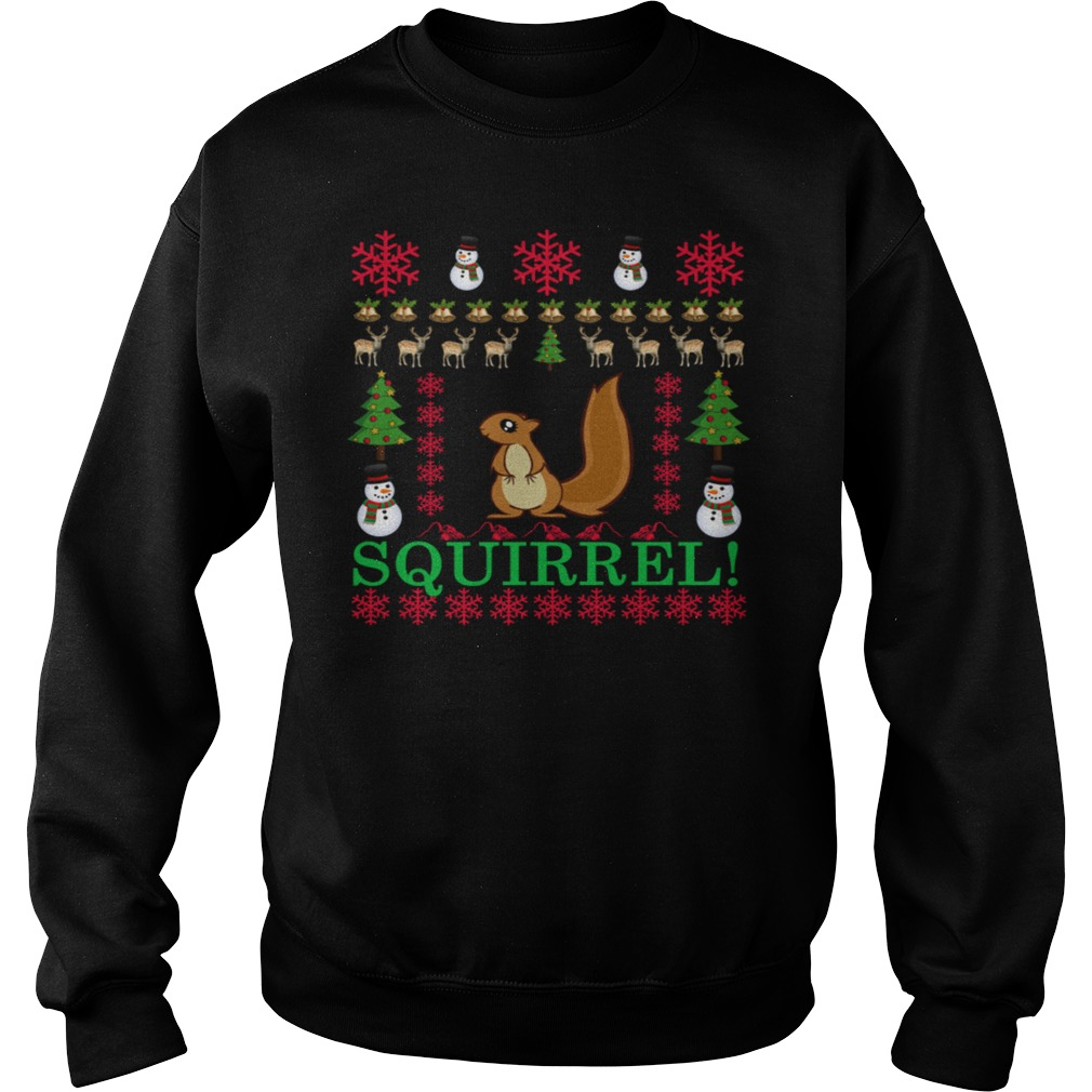Christmas Squirrel Ugly Sweater