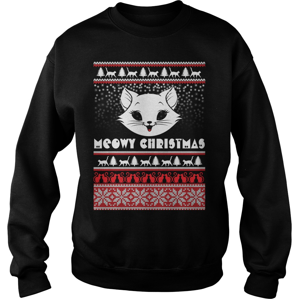 Cute Christmas Meowy ugly sweater