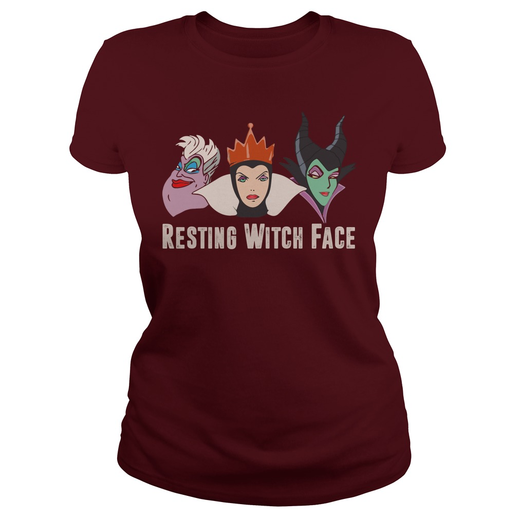 Disney Resting witch face Maroon shirt