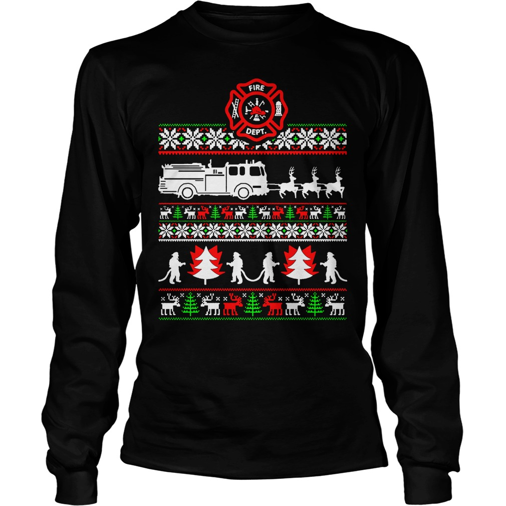 Firefighter ugly Christmas sweater, shirt, hoodie