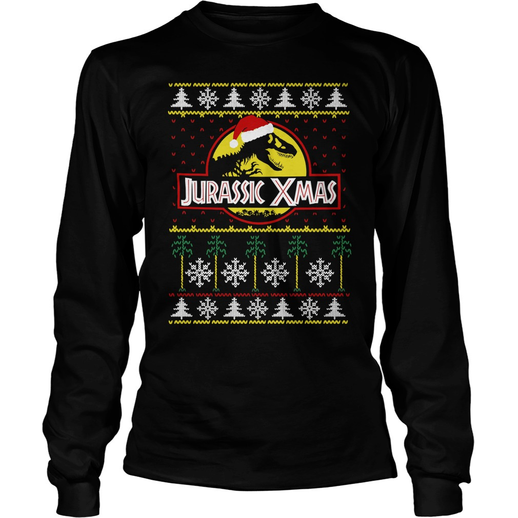 Jurassic Xmas - Ugly Christmas Sweater, shirt and hoodie