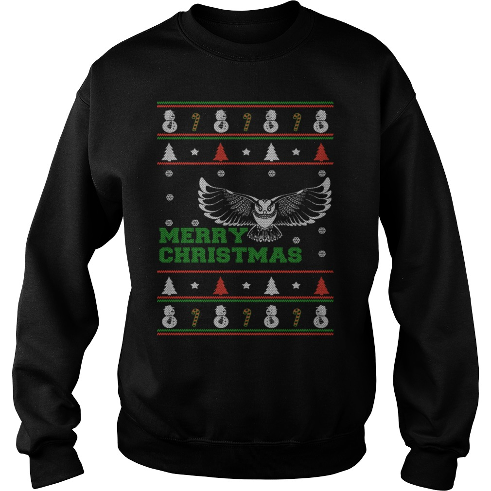 Merry Christmas Owl Ugly Sweater