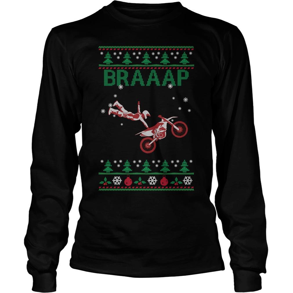 Motocross christmas sweater, shirt and hoodie