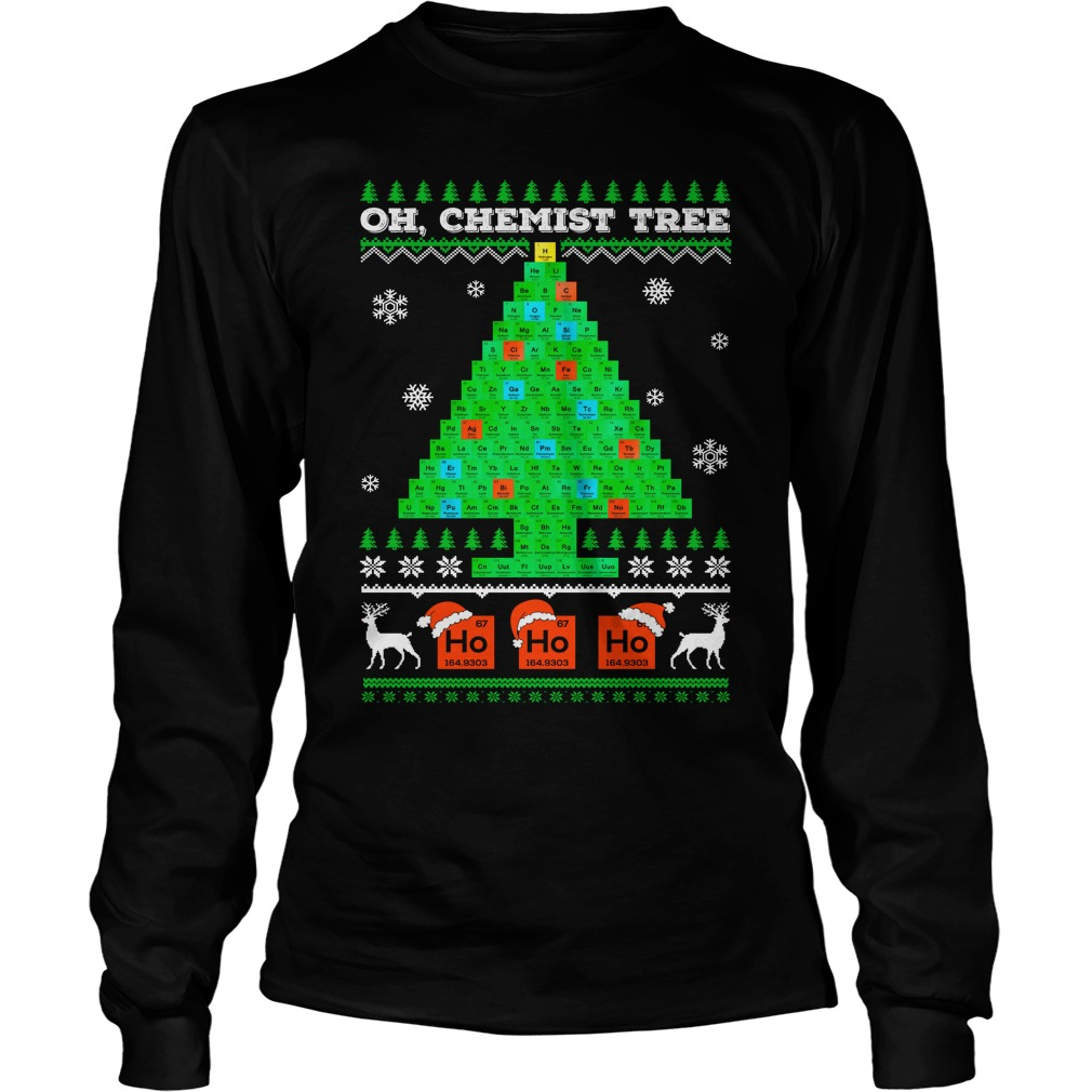 Oh Chemistry Tree Ugly Christmas Sweater, shirt and hoodie
