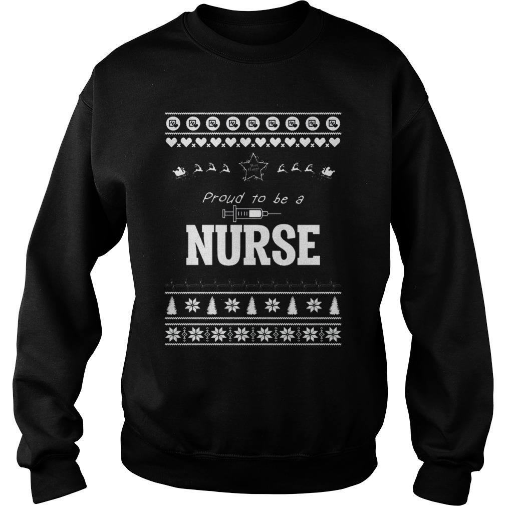 Proud to be a Nurse Christmas sweater