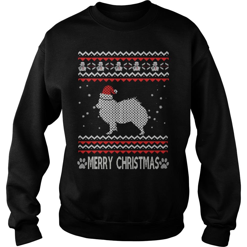 Ugly Christmas American Eskimo Dog Sweater Shirt And Hoodie