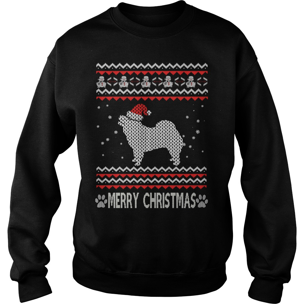 Ugly Christmas chow chow sweater