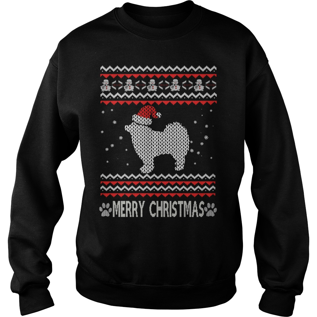 Ugly Christmas Finnish Lapphund sweater