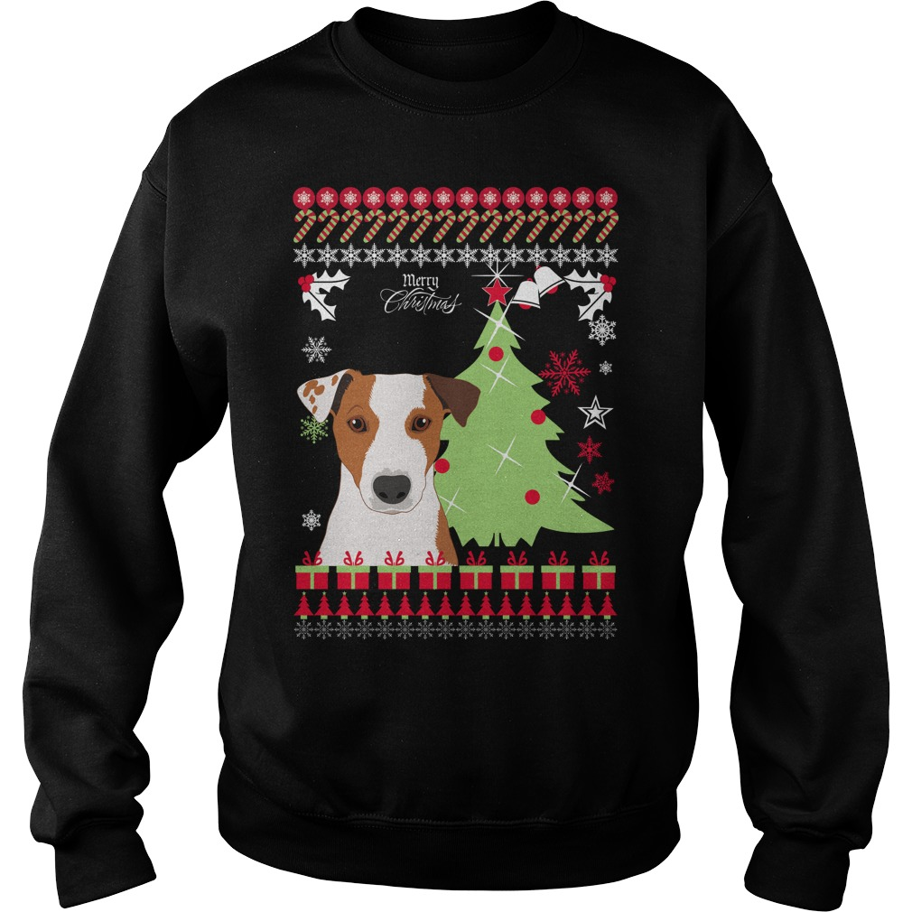 Jack russell ugly Christmas sweater