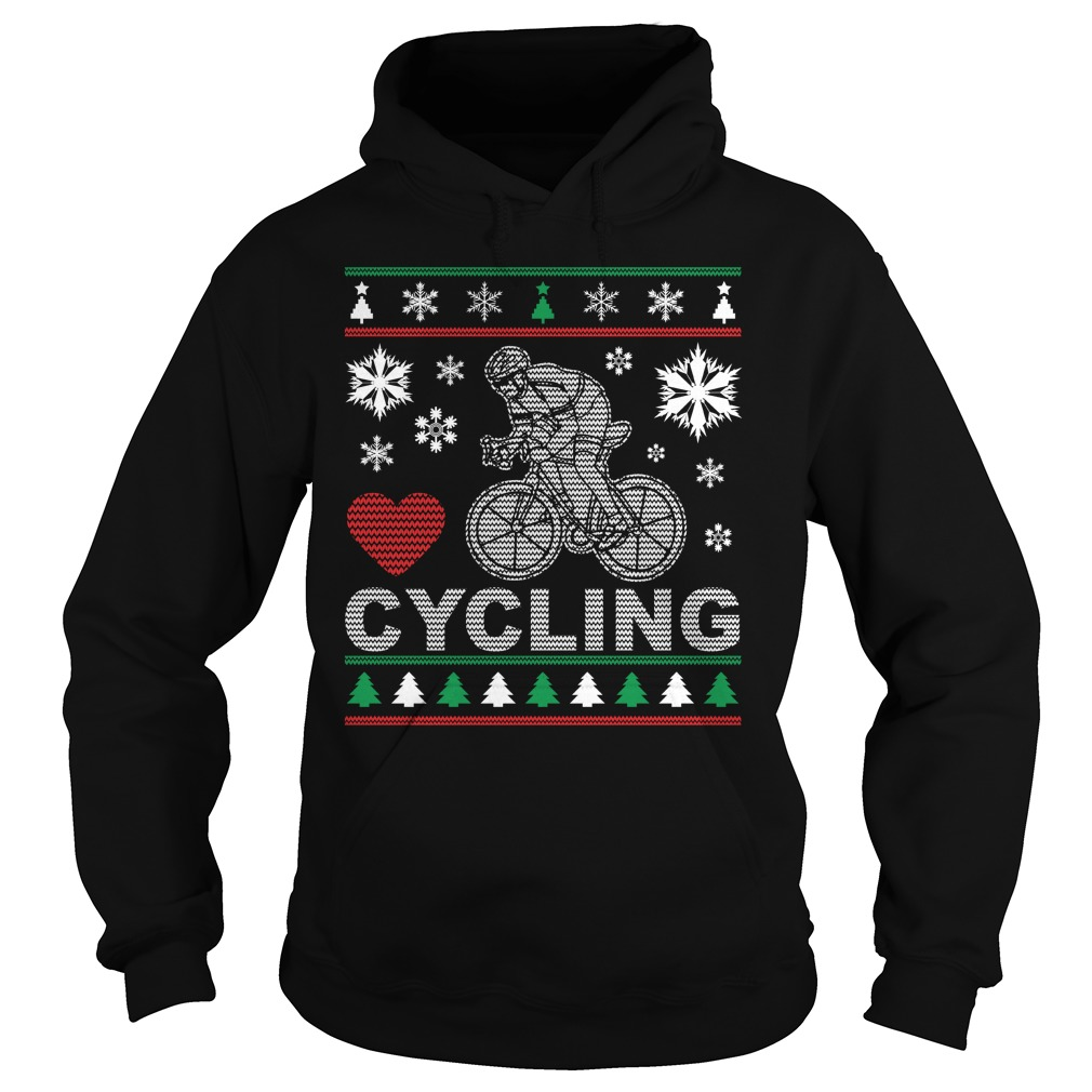 Ugly Cycling Christmas Design Hoodie