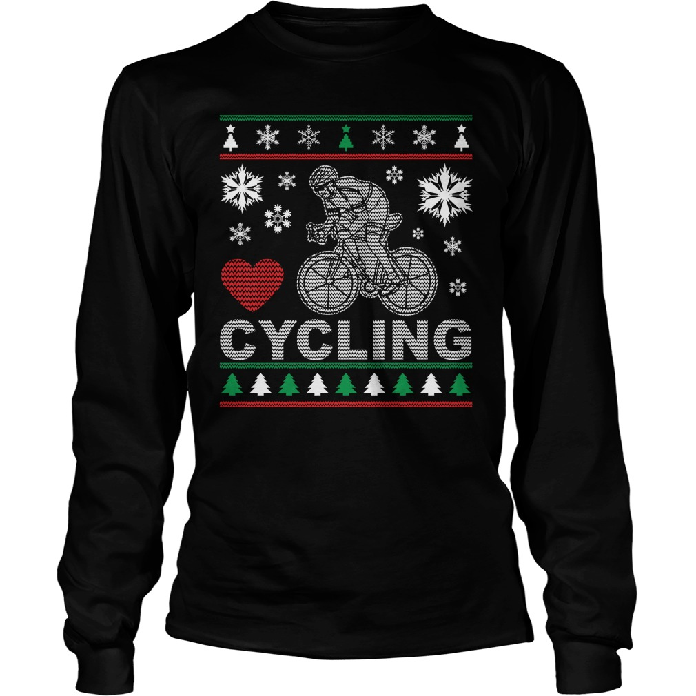 Ugly Cycling Christmas Design Longsleeve Tee