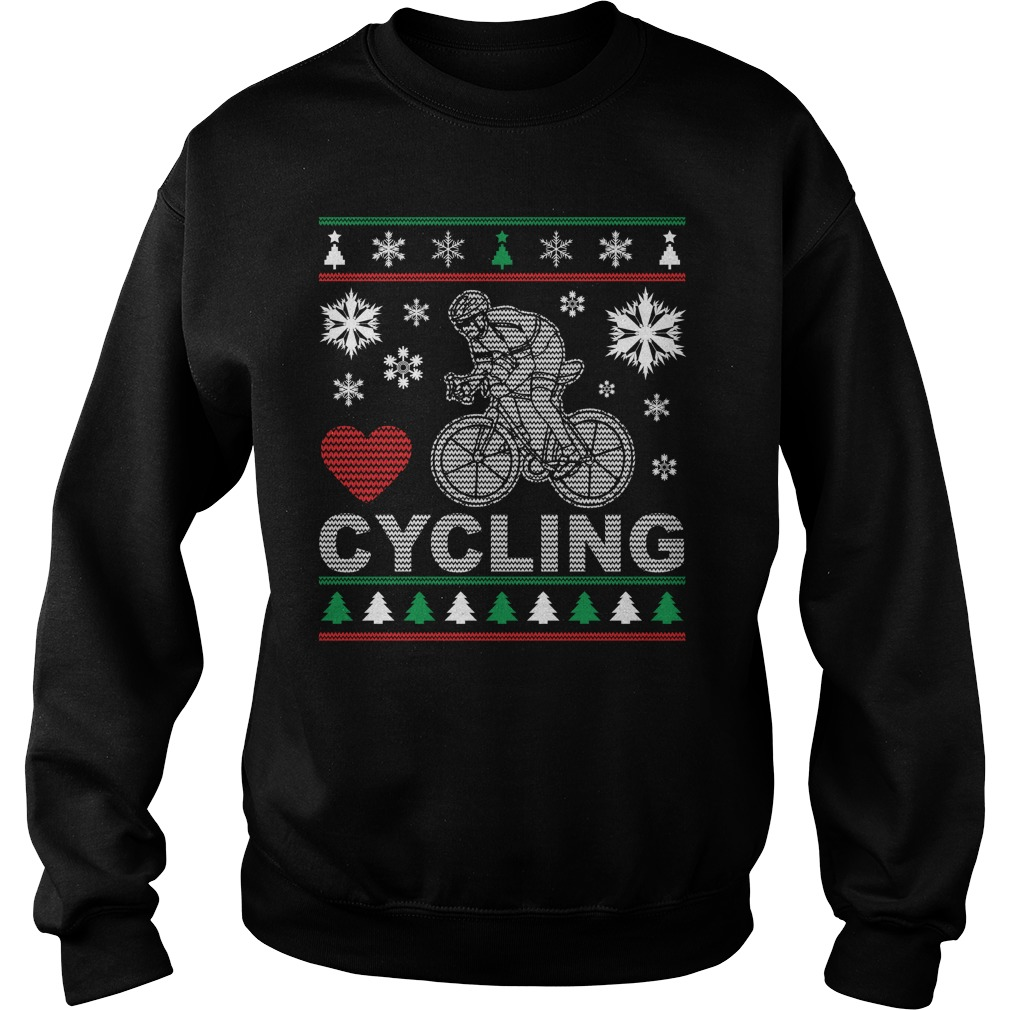 Ugly Cycling Christmas Design sweater
