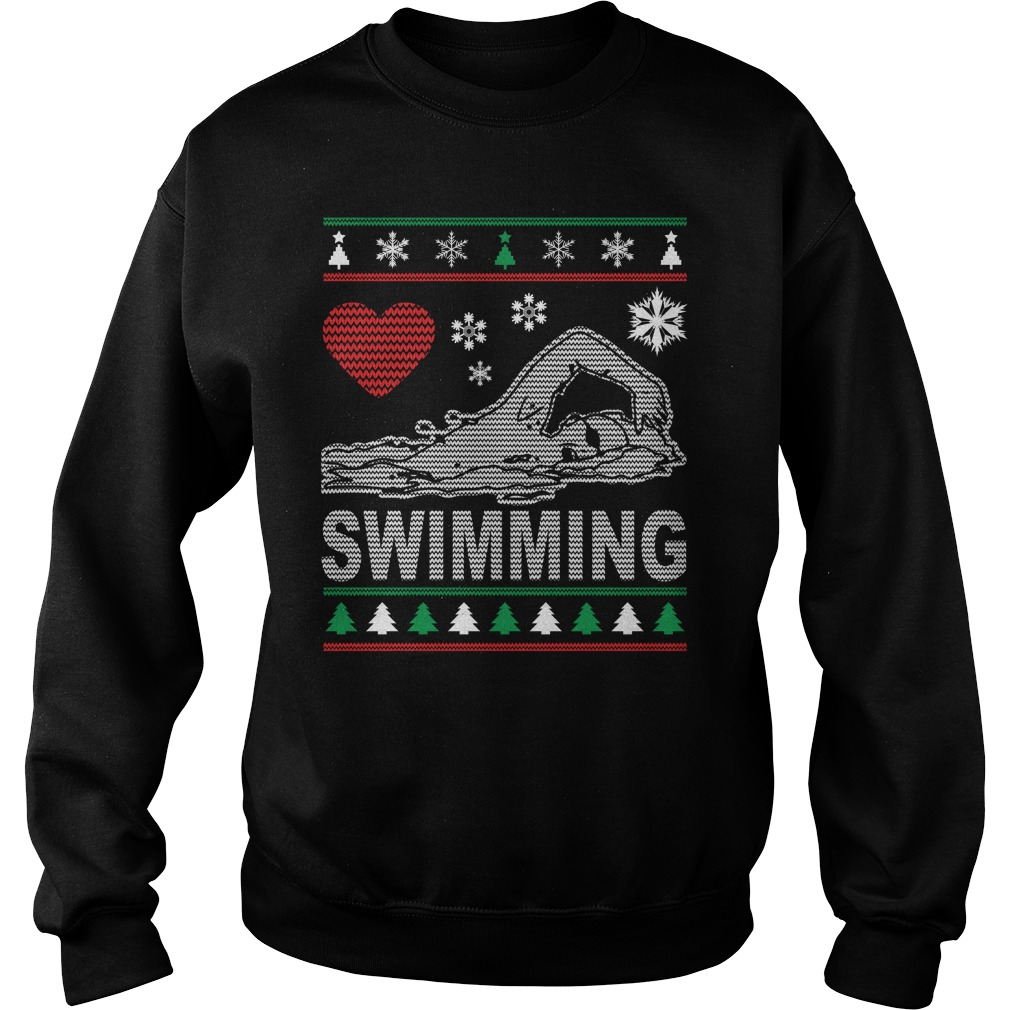 Ugly Swimming Christmas Design sweater