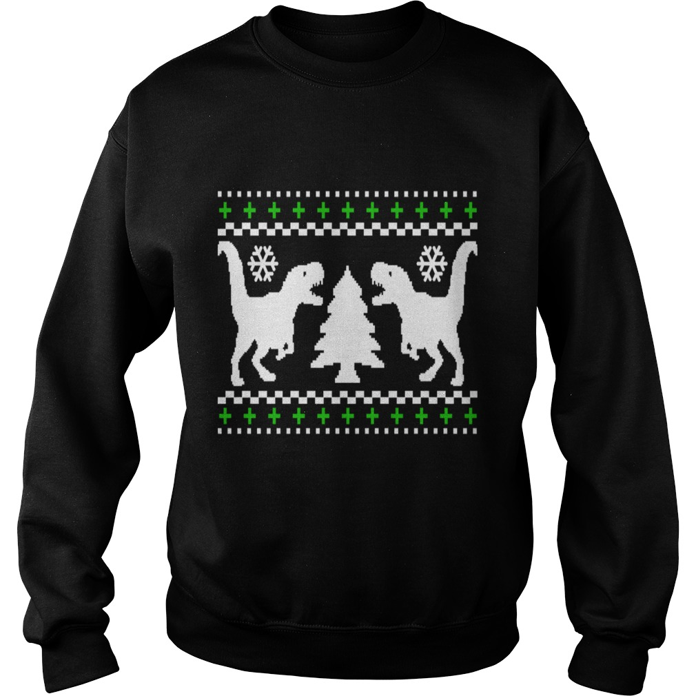 Ugly t rex christmas sweater
