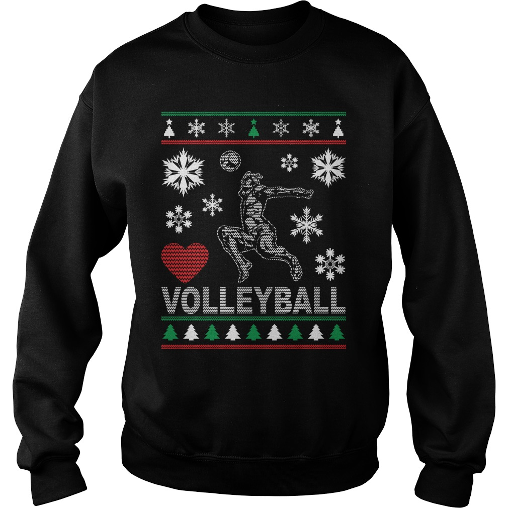 Ugly Volleyball Christmas design sweater
