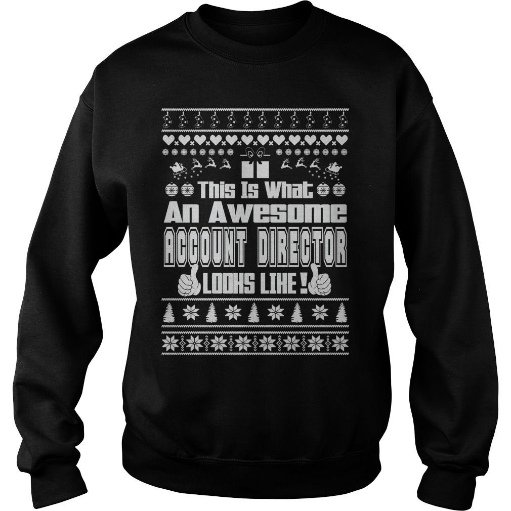 This is what an awesome Account Director Ugly Christmas sweater
